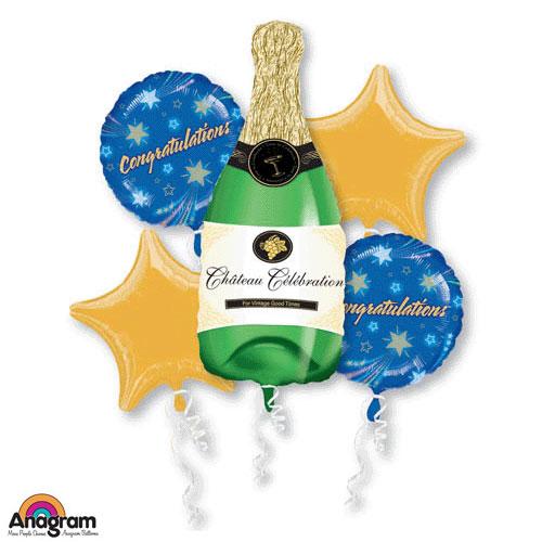 Bouquet Champagne Bottle Balloon Bouquet