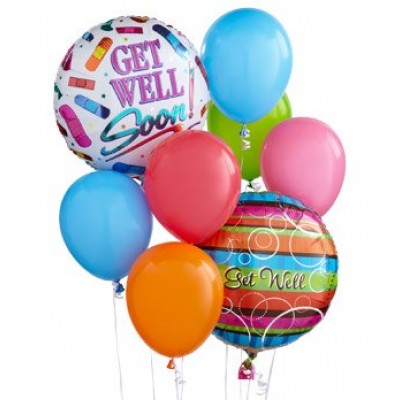 Florist Designed Get Well Balloon Bouquet