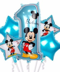 Bouquet Mickey 1st Birthday Balloon